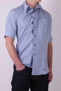 Blue Box Check Skinny Drunk Shirt by Vivienne Westwood   Blue   Buy