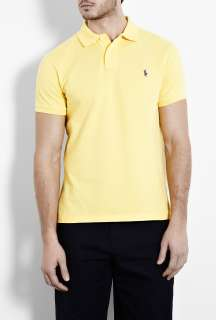 Polo Ralph Lauren  Oasis Yellow Custom Fit Polo Shirt by Polo Ralph