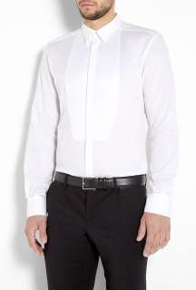White Bib Front Slim Dress Shirt by D&G Dolce & Gabbana