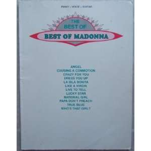 The Best of Best of Madonna Piano Voice Guitar Warner Bros. Books