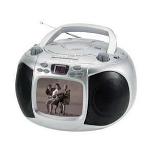 inch B/W Screen Portable Television Display AM/FM Radio Tuner CD