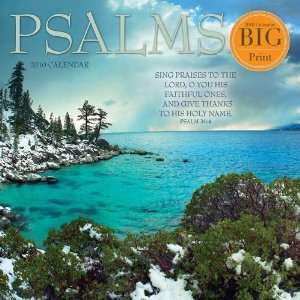 Psalms Big Print 2010 Wall Calendar Office Products
