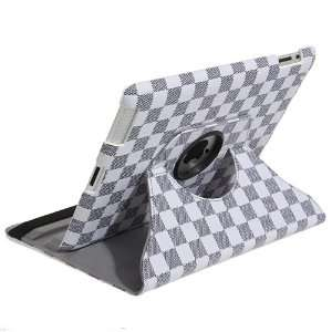 iPad 2 Rotating Magnetic Leather Case Smart Cover (White