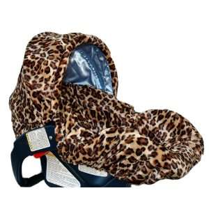 Lollipop Leopard/Blue with Trim Canopy INFANT CAR SEAT COVER Baby