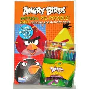 Angry Birds Mission: Pig possible Coloring Book with