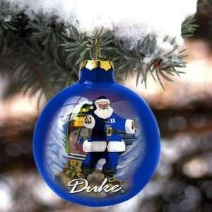 Duke Blue Devils Hand Painted Glass Ornament Sports