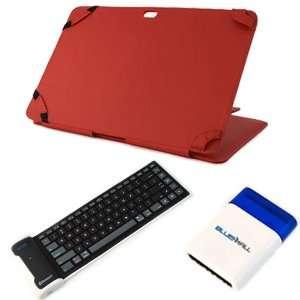 iKross Bluetooth Wireless Silicone Keyboard + Red Premium