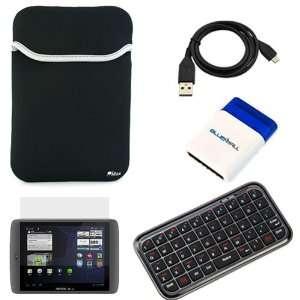 Universal Neoprene Sleeve Case + Bluetooth Wireless Mini Keyboard