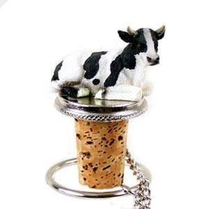 Cow Bottle Stopper (Holstein Bull): Kitchen & Dining