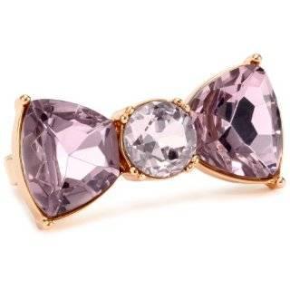 Johnson Iconic Rose Gold Large Crystal Bow Bangle Bracelet Jewelry