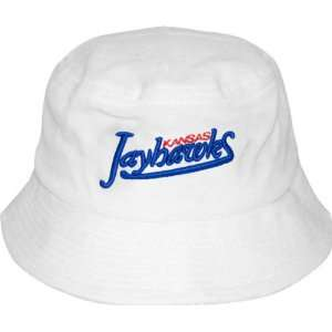 Kansas Jayhawks White Bucket Hat