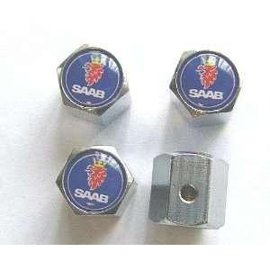 Saab Anti theft Car Wheel Tire Valve Stem Caps Automotive