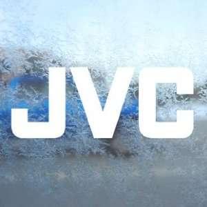 JVC White Decal JVC Audio Car Laptop Window Vinyl White