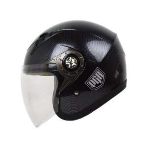 Open Face Motorcycle DOT APPROVED Helmet JE02 (L, Carbon Fiber Print