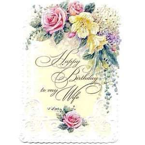 Carol Wilson Birthday Greeting Card to My Wife