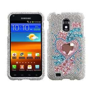 3D Bling Rhinestone Diamond Crystal Faceplate Hard Skin Case Cover