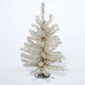 Silver Tinsel Christmas Tree Wedding Table Top Art