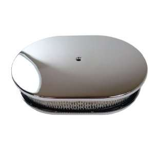 /Ford/Mopar 12 Oval Chrome Aluminum Air Cleaner   Smooth Automotive