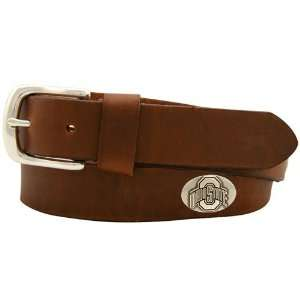 Ohio State Buckeyes Brown Leather Coaches Belt (34)