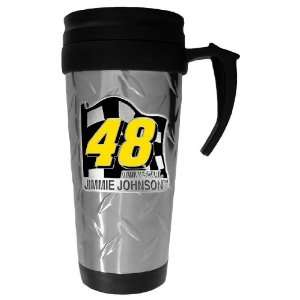 48 JIMMIE JOHNSON Diamond Plate Travel Mug   NASCAR NASCAR