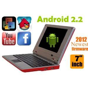 Android 7 RED or BLACK Mini Laptop Notebook Netbook PC