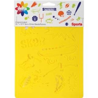 Set of 2 Stencils   Football Soccer Ball Game Sport Drawing drafting