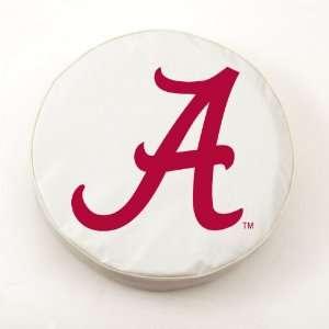 Alabama Crimson Tide University White Tire Cover  Sports