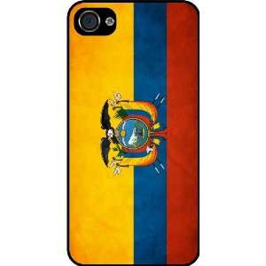 Rikki KnightTM Ecuador Flag Black Hard Case Cover for