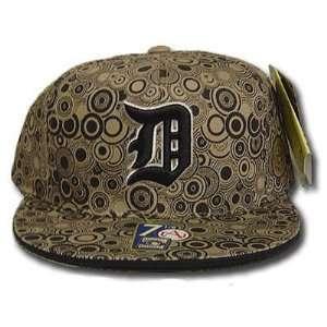 MLB DETROIT TIGERS FLAT BILL HAT CAP BLACK 7 3/4 FITTED