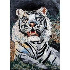 20x28 White Tiger Marble Mosaic Art Wall Floor Tile Home Improvement