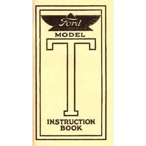 Instruction Book for Ford Model T Cars Ford Motor Company Books