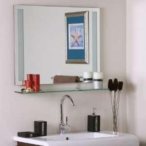 Wonderland SSM151 Ricardo   Shelf Frameless Wall Mirror, Etched Glass