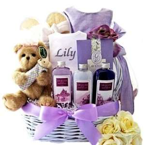Lavender Luxury Mommy and Baby Girl Gift Basket Toys