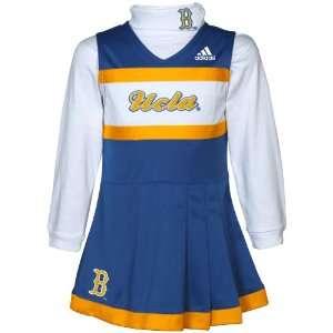 Girls True Blue White 2 Piece Turtleneck & Cheerleader Dress Set
