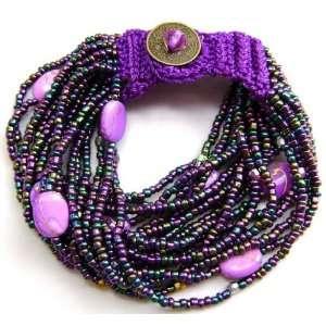 Fashion Jewelry Rice Glass Beads Bracelet