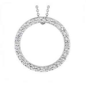 30Ct Round Diamond Eternity Pendant 18k Gold Pave Yellow Jewelry