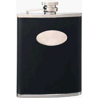Visol Stainless Steel Flask w/Black Leather Wrapped (6oz