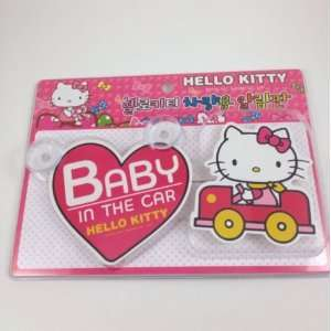 Sanrio Hello Kitty Auto Safety Sign   Baby in the Car