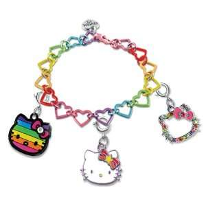 com Licensed Sanrio Hello Kitty Set of 3 Groovy Rainbow Kitty Charms