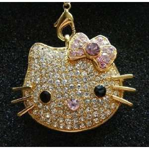 High Quality 8gb Hello Kitty Crystal Jewelry USB Flash Memory Drive