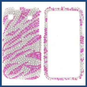 Full Diamond Hot Pink Zebra Protective Case Cell Phones & Accessories
