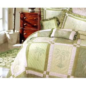 Kimiko Palm Tree Full Queen Bed Quilt