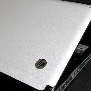 HP Pavilion DV3 Laptop Cover Skin [White Leather