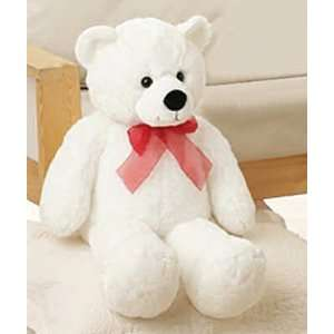 Plush Big Sweetheart White Teddy Bear 28  Toys & Games