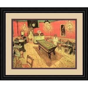 The Night Cafe with Pool Table by Vincent Van Gogh   Framed Artwork