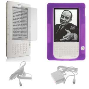 Silicone Skin Soft Cover Case + LCD Screen Protector for  Kindle