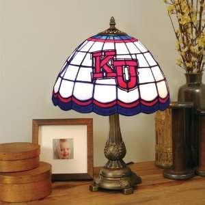 KANSAS JAYHAWKS 20 Hand Cut Stained Glass TIFFANY TABLE LAMP
