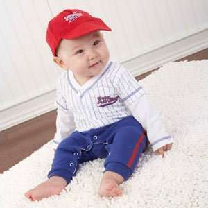 Baby Baseball Three Piece Layette Set in All Star Gift Box Baby