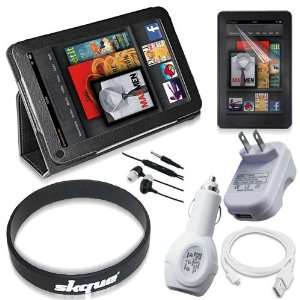 Kindle Fire Tablet, Leather Cover, Screen Protector, Charger Kits and