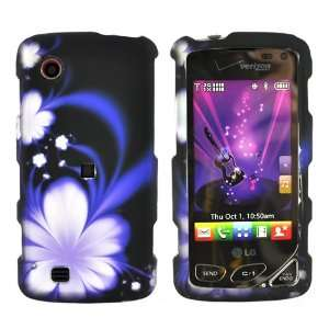 For LG Chocolate Touch VX8575 Hard Case Flower Black